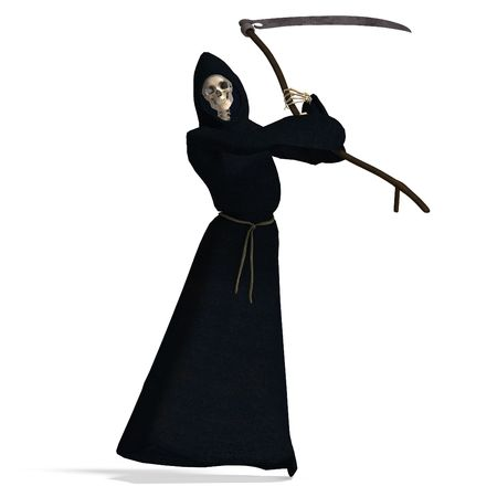 perish: 3D rendering of the deadly reaper  Stock Photo