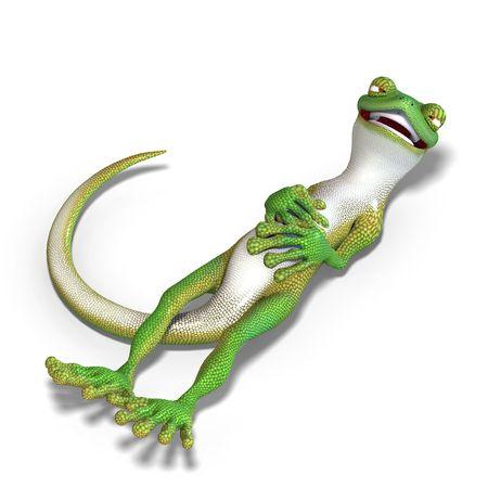 twee: funny toon gecko. 3D render