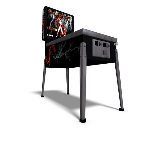 3D rendering of a pinball with  shadow over white Stock Photo
