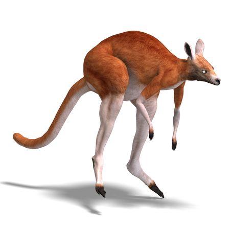 frisk: 3D rendering of a big red kangaroo