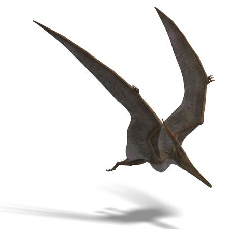 flying dinosuar Pteranodon. 3D render