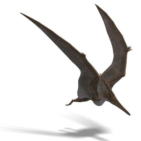 Pteranodon dinosuar vuelo. 3D render