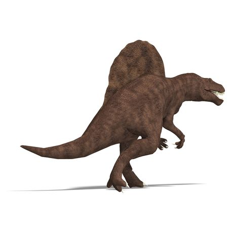 dinosaurio espinosaurio. Procesamiento 3D  Foto de archivo - 5574053