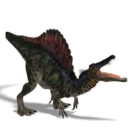 spinosaurus: dinosaur Spinosaurus. 3D render