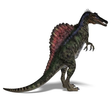monstrous: dinosaur Spinosaurus. 3D render  Stock Photo