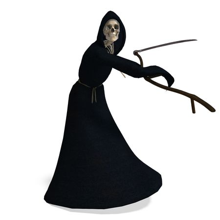 decease: 3D rendering of the deadly reaper  Stock Photo