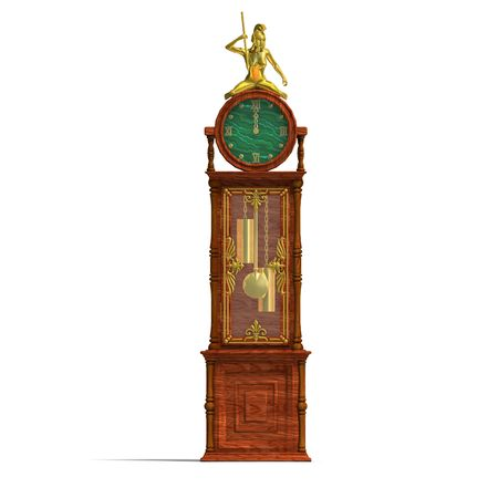3D rendering of a historic clock of louis xv.