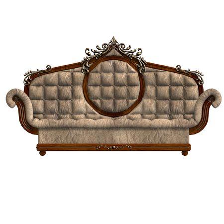 cushy: 3D rendering of a cushy sofa of louis XV.