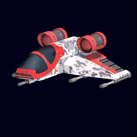 sci: 3D rendering of a sci fi spaceship in universe
