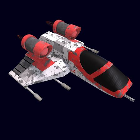 starship: 3D rendering of a sci fi spaceship in universe