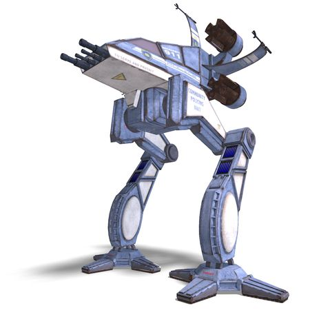 3D rendering of a futuristic transforming scifi robot and spaceship Stock Photo - 5573958