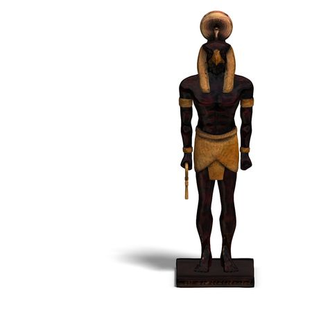 horus: rendering of eygptian god horus statue