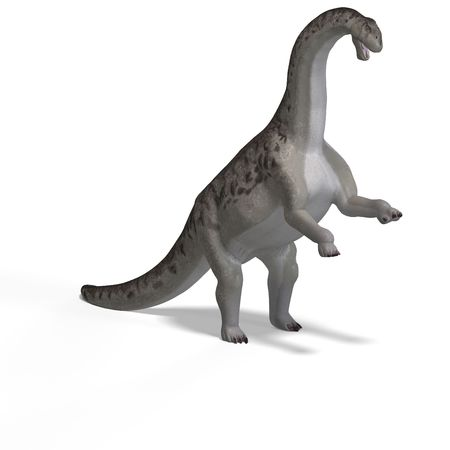 assail: giant dinosaur camasaurus With Clipping Path over white Stock Photo