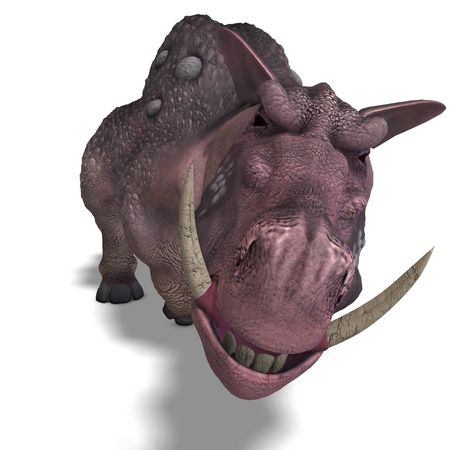 assail: 3D rendering of a fantasy boar with huge tusks