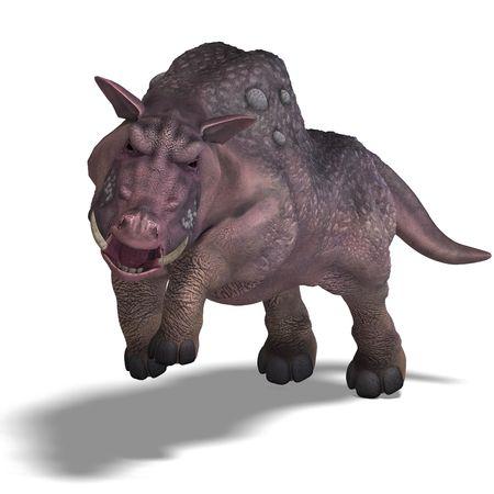 frisk: 3D rendering of a fantasy boar with huge tusks
