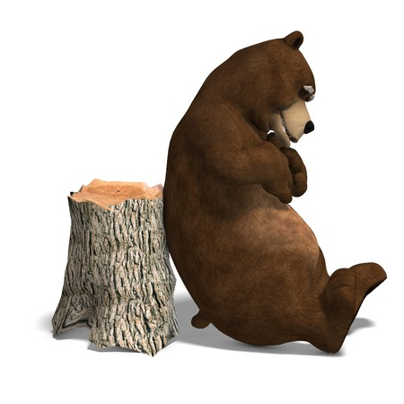 cute and funny toon bear. photo