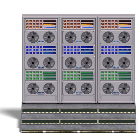 automat: a historic science fiction computer or mainframe.