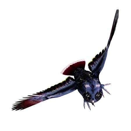 swoop: fantasy owl in dark blue colors.