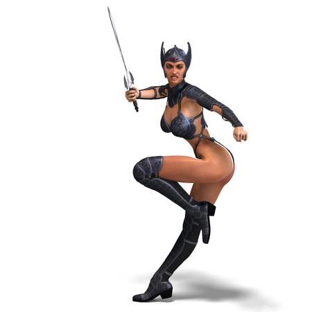 diehard: female amazon warrior with sword and armor.