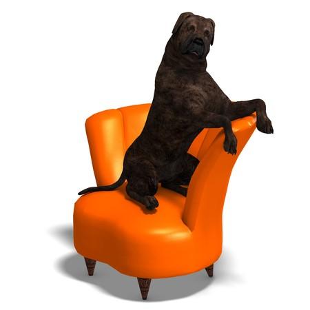 animalia: American Mastiff Dog. 3D rendering
