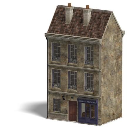 City Building Bistro. 3D rendering