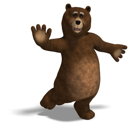 carnivora: cute and funny toon bear Stock Photo
