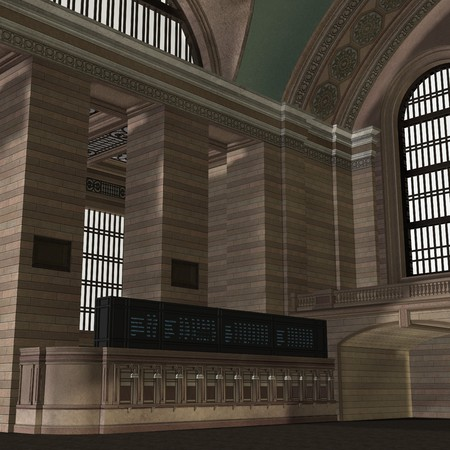 An Empty Central Station. 3D rendering Stock Photo - 7108869