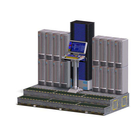 computation: a historic science fiction computer or mainframe.