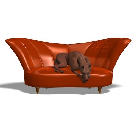 pinscher: Miniature Pinscher Dog. 3D rendering  Stock Photo