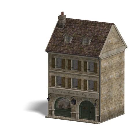 domicile: City Building Wine Store. 3D rendering   Stock Photo
