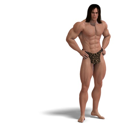 beefy: the apeman out of the jungle. 3D rendering