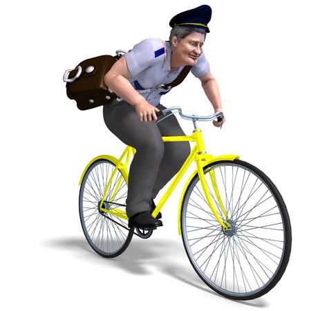 postman on a bike.