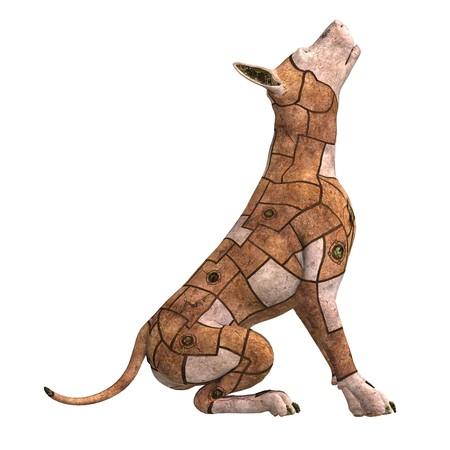 rusty scifi dog of the future.