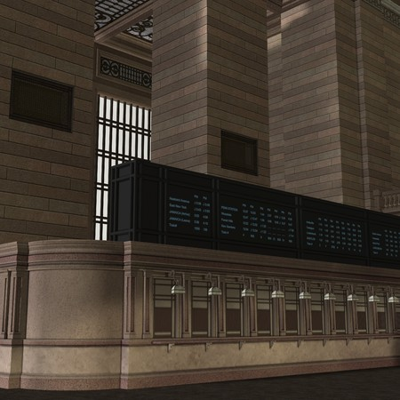 backcloth: An Empty Central Station.