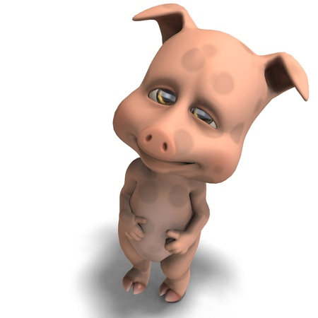 cute and funny cartoon pig