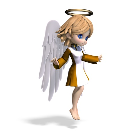 cute cartoon angel with wings and halo Stock Photo - 8466414