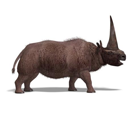 Dinosaur Elasmotherium.  photo