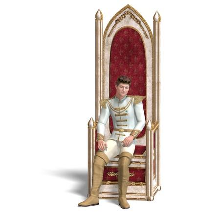 disposer: fairytale prince rules the fairyland Stock Photo