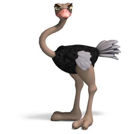 ostrich: cute toon ostrich