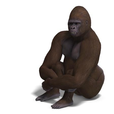 primeval: gorilla sitting anf waiting