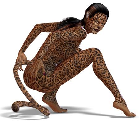 femme: female fantasy deer creature