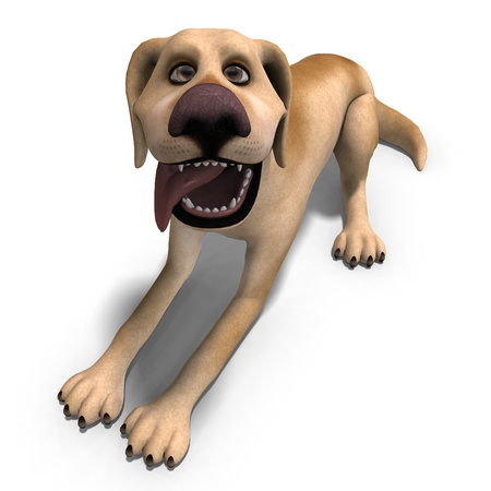 daft: very funny cartoon dog is a little bit nuts