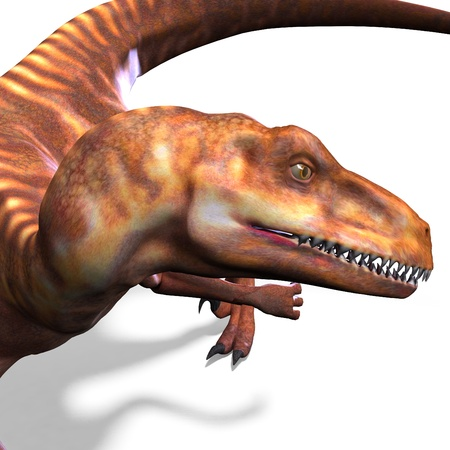 assail: Dinosaur Deinonychus. 3D rendering