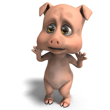 funny: cute and funny cartoon pig