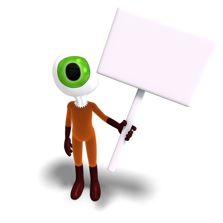 funny and cute cartoon guy with a great eye Stock Photo - 8769765