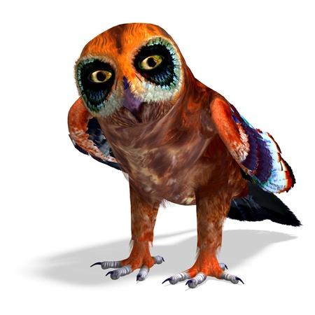 daemon: fantasy owl with rainbow colors