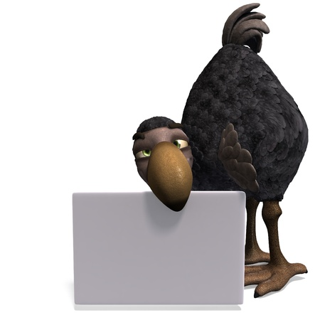 very funny toon Dodo-bird Stock Photo - 8769816