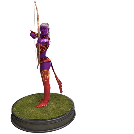 bowman: Sexy Blue Elf with Bow