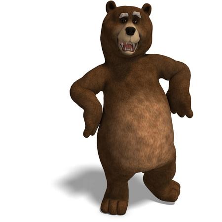 regards: cute and funny toon bear
