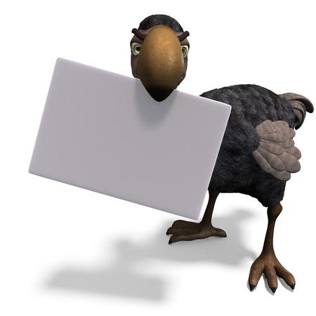 very funny toon Dodo-bird  Stock Photo - 8769904